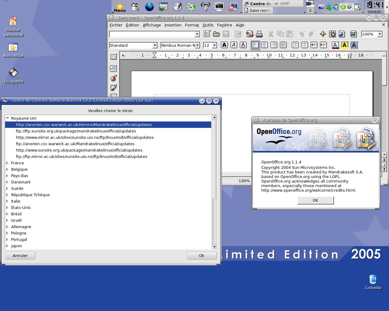 Mandrake Linux 2005 Limited Edition Mandriva10-2_02